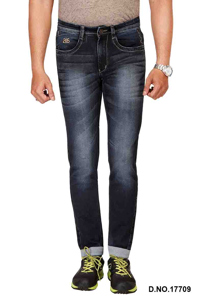UTD FANCY KNIT 1-Mid Blue KNITTED DENIM