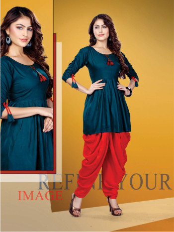 SUF FEMINA 004-D NO 004 WOMEN KURTI WITH DHOTI PANT