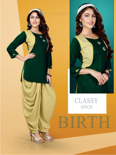 SUF FEMINA 005-D NO 005 WOMEN KURTI WITH DHOTI PANT