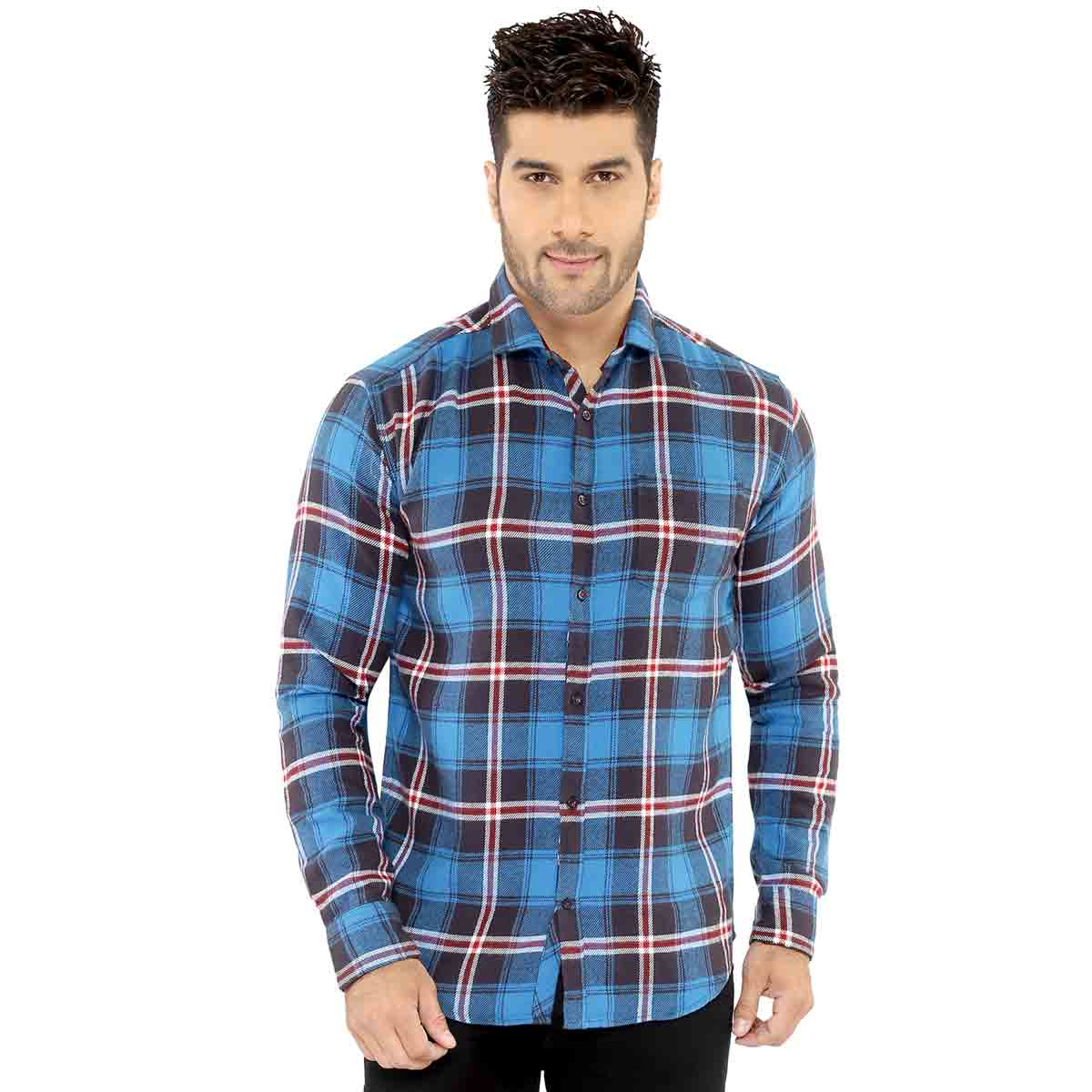 Blue & Black Checks Casual Shirt - 10500