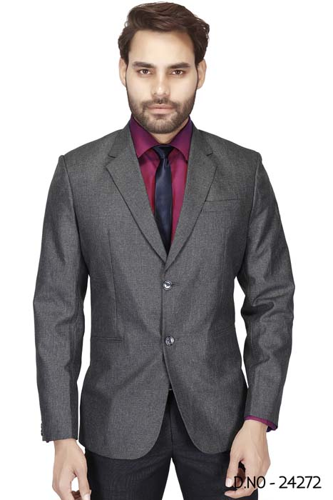 MEN'S FORMAL BLAZAR-DARK GRAY