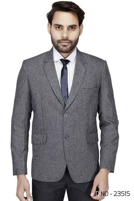 MEN'S FORMAL BLAZAR-GRAY