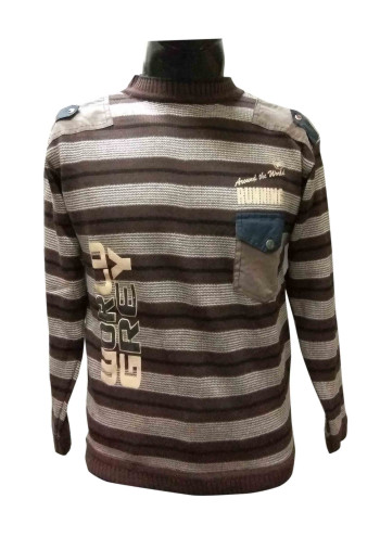 FSPL RNECK W LOGO COFFEE COLOUR PULLOVER