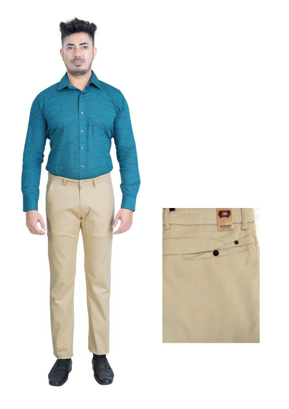 FSPL UTD MIX 2-CORT CREAM CASUAL TROUSER