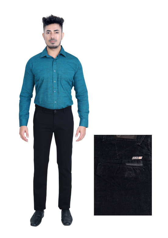 FSPL UTD MIX-BLK CORT CASUAL TROUSER