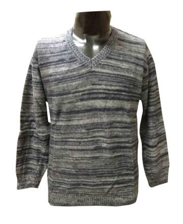 FSPL V NECK - Black/ Gray Pullover