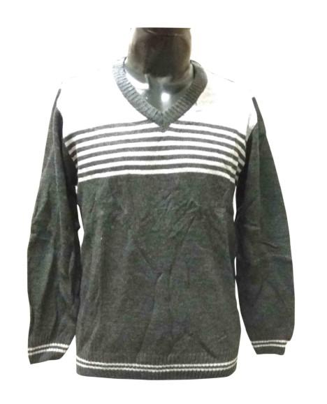 FSPL V NECK - Gray/Black Pullover