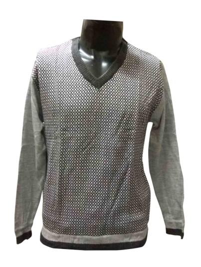 FSPL V NECK - Gray Multi Pullover