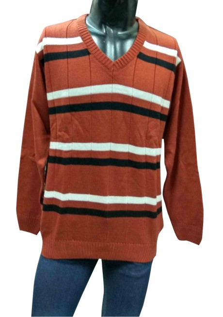 V NECK MAHROON COLOUR PULLOVER