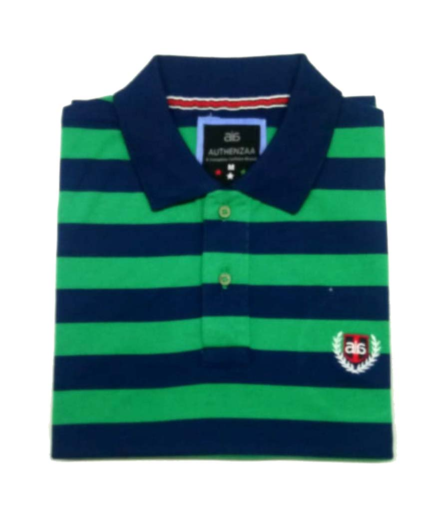 AI ST 131-NAVY / GREEN POLO T SHIRT