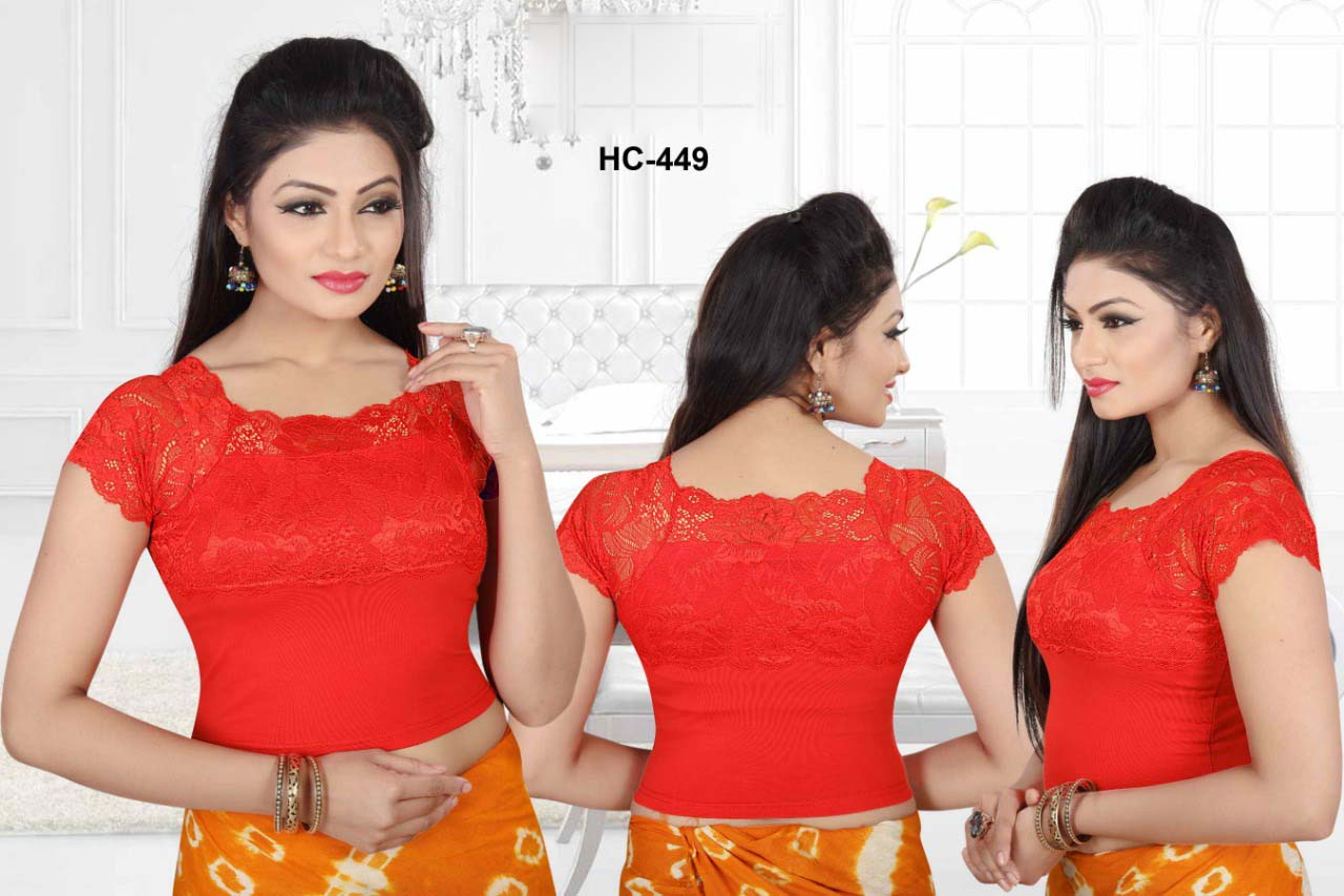 HC JULY 449-RED WMN READYMADE BLOUSE