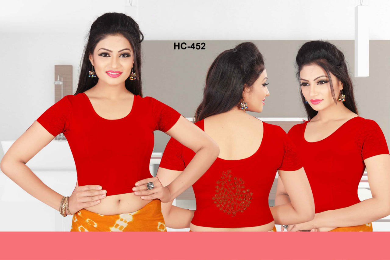 HC JULY 452-RED WMN READYMADE BLOUSE