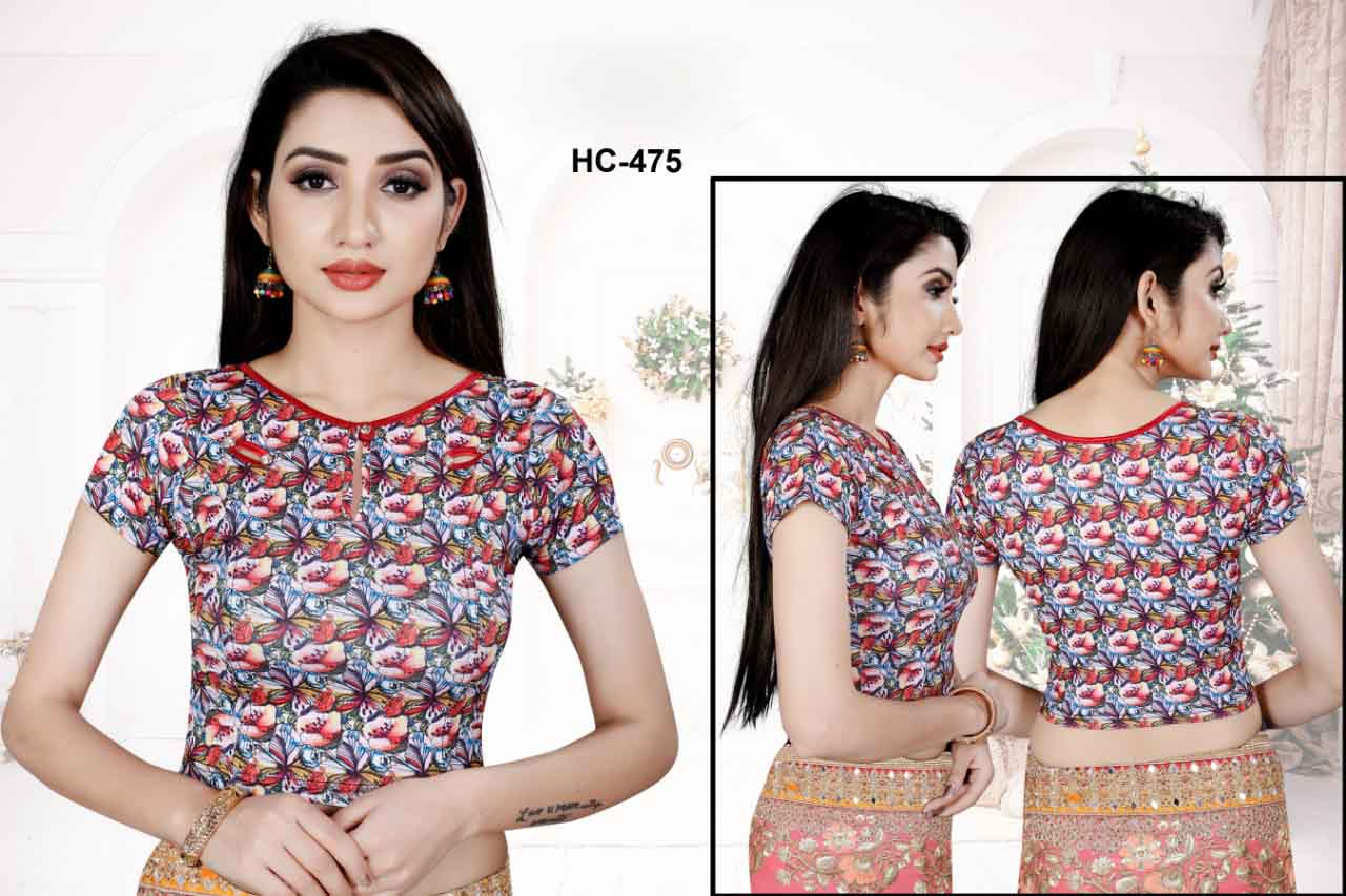 HC JULY 475-MULTICOLOUR WMN READYMADE BLOUSE