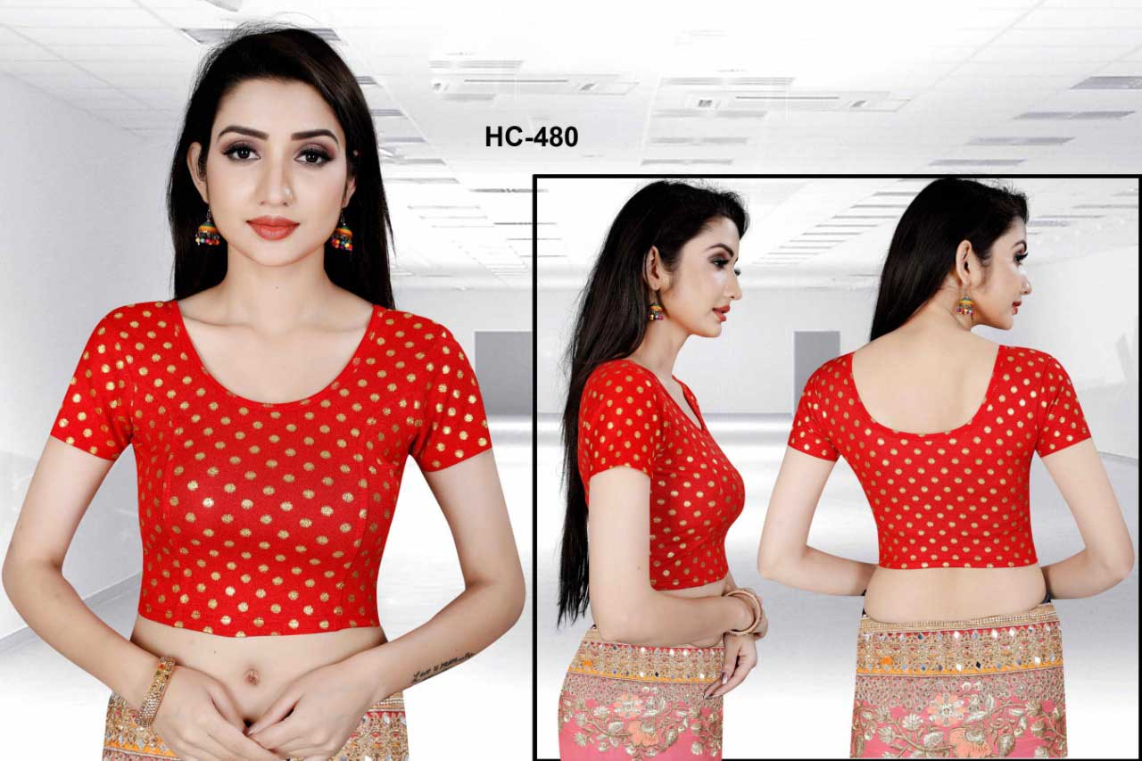 HC JULY 480-RED WMN READYMADE BLOUSE