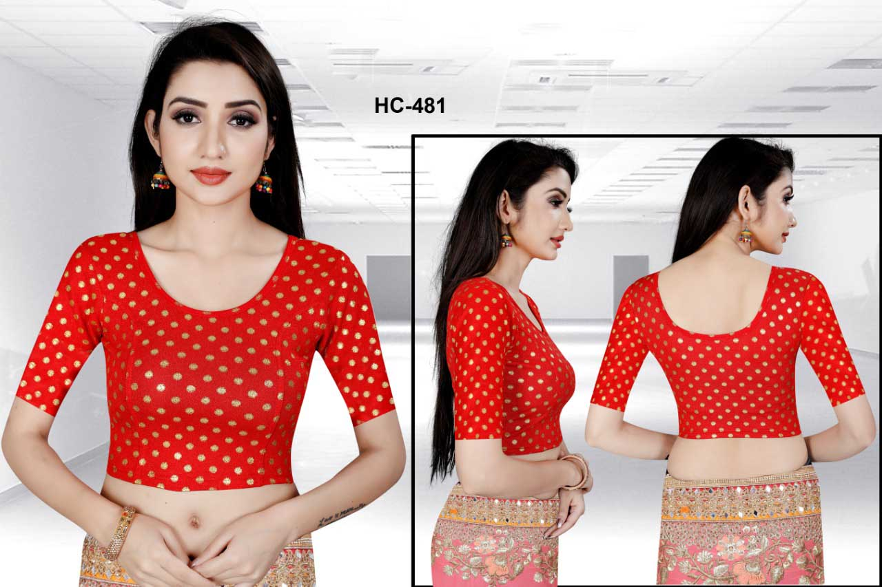 HC JULY 481-RED WMN READYMADE BLOUSE