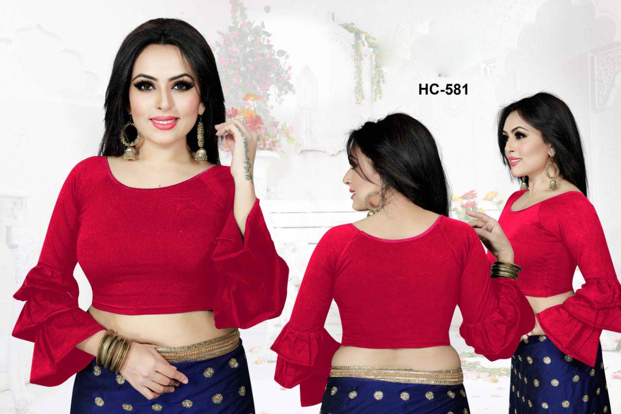 HC JULY 581-RED WMN READYMADE BLOUSE