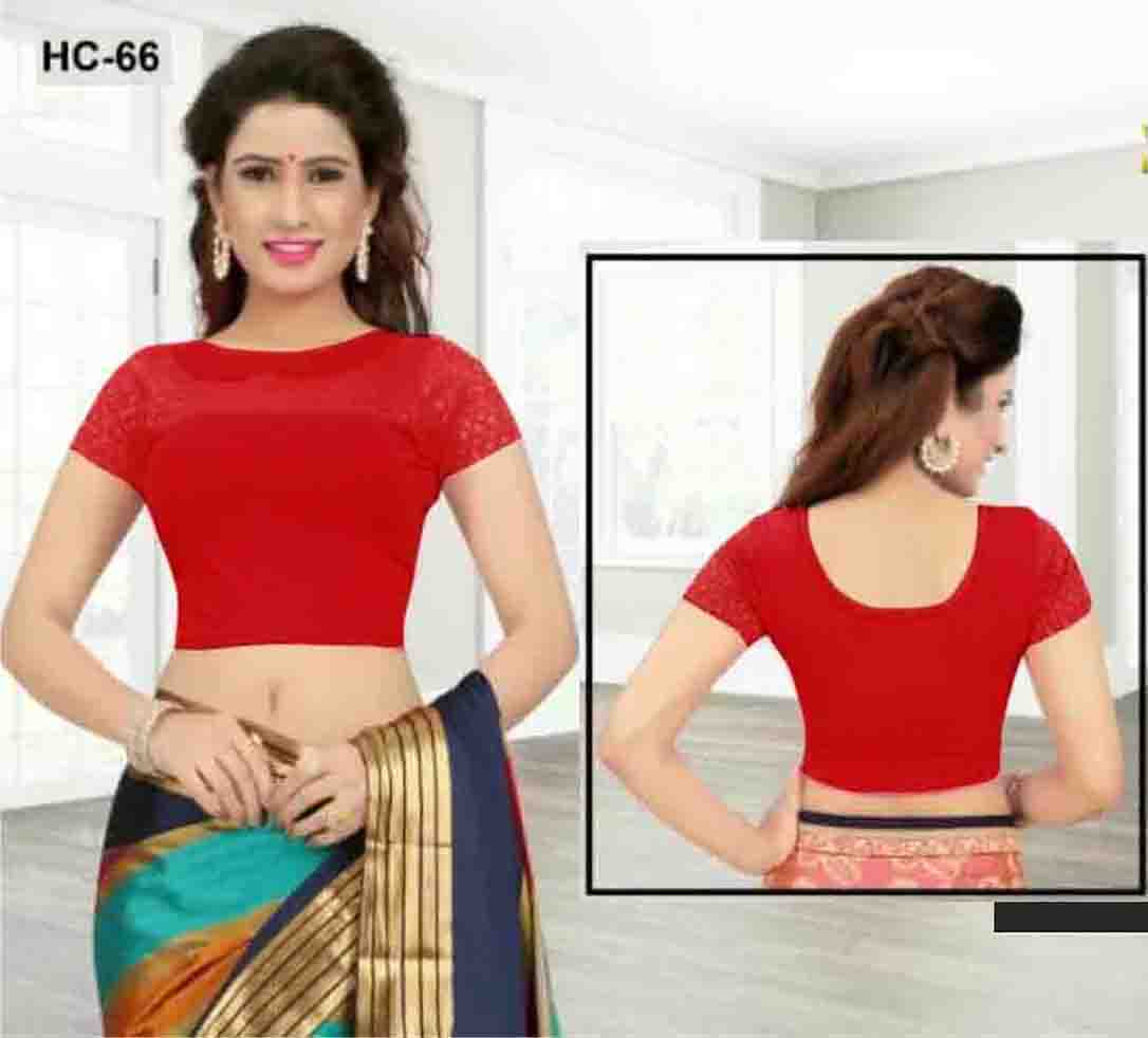 FEB HC 66-RED WOMEN READYMADE BLOUSE