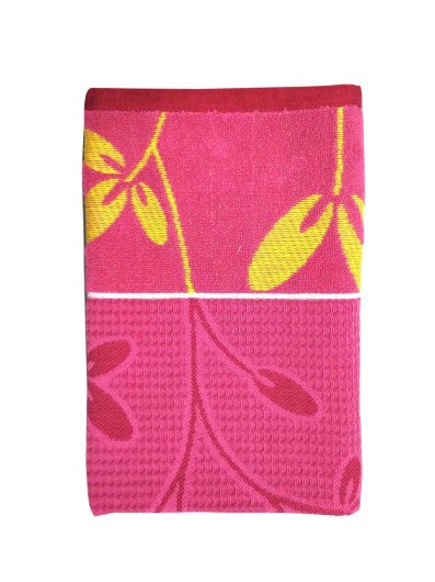 HONEYCOMB 2-PINK-COTTON TOWEL