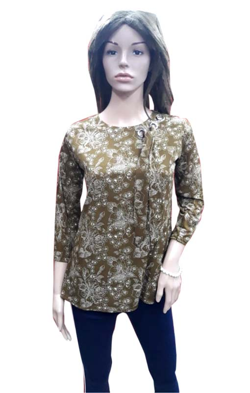 WOMEN TOP-MAHENDI-HT FANCY TOP 01