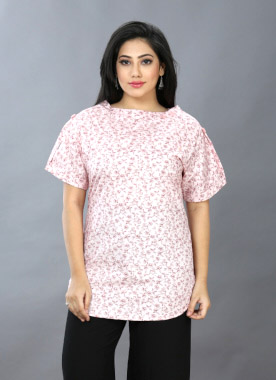 WOMEN TOP-PEACH-HT FANCY TOP 01