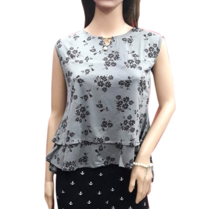 WOMEN TOP-GRAY-HT FANCY TOP 03