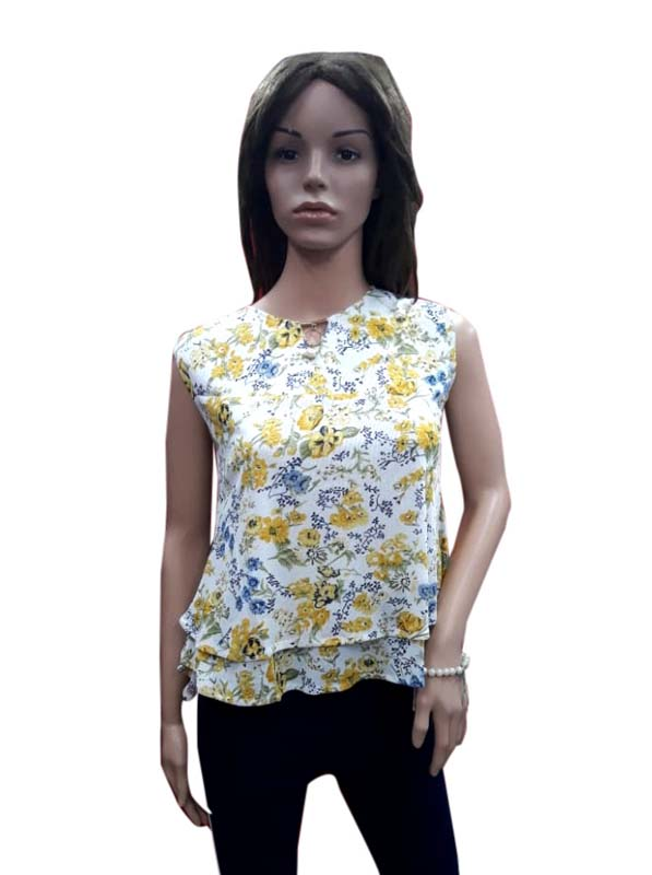 WOMEN TOP-YELLOW-HT FANCY TOP 03