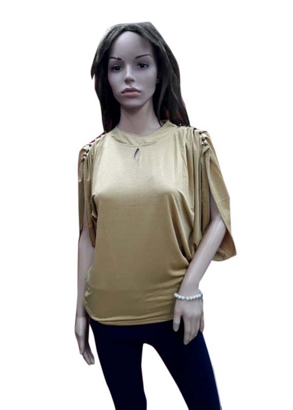 WOMEN TOP-BEIGE-HT FANCY TOP 04