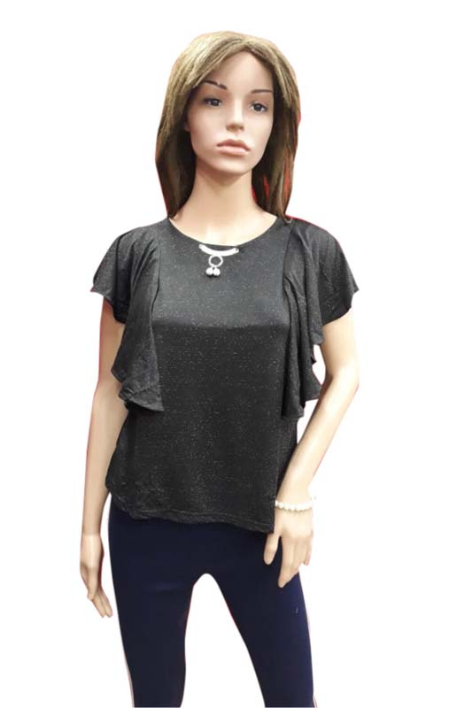 WOMEN TOP-BLACK-HT FANCY TOP 07