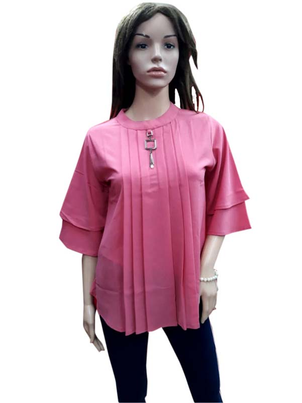 WOMEN TOP-PINK-HT FANCY TOP 13