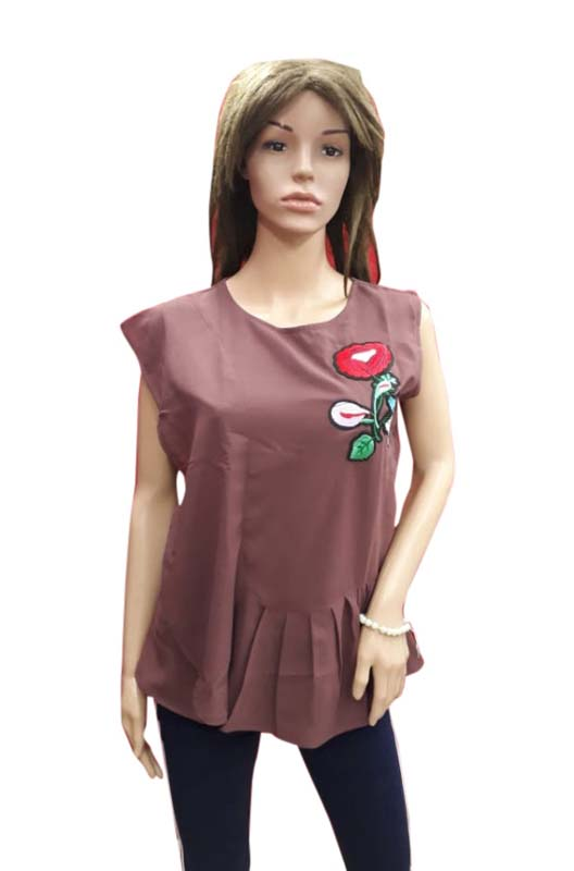 WOMEN TOP-LIGHT MAROON-HT FANCY TOP 14