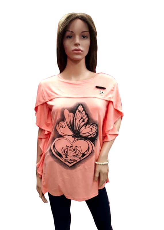 WOMEN TOP-PEACH-HT FANCY TOP 17