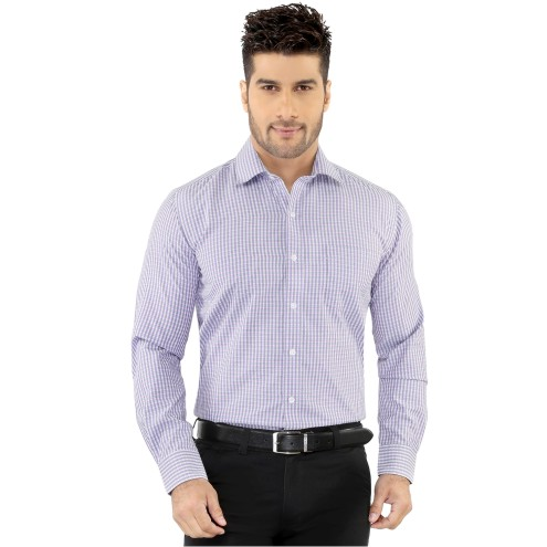 Blue & Purple Checks Formal Shirt