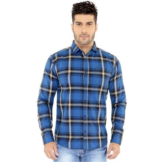 Firozi Checks Casual Shirt