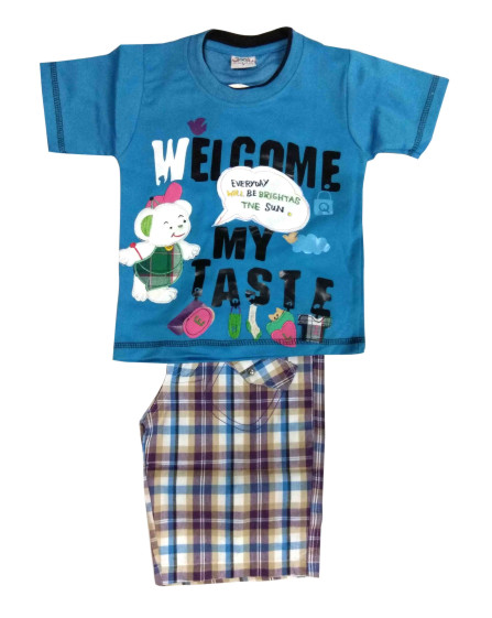 WELCOME-BLUE Kids Baba Suit