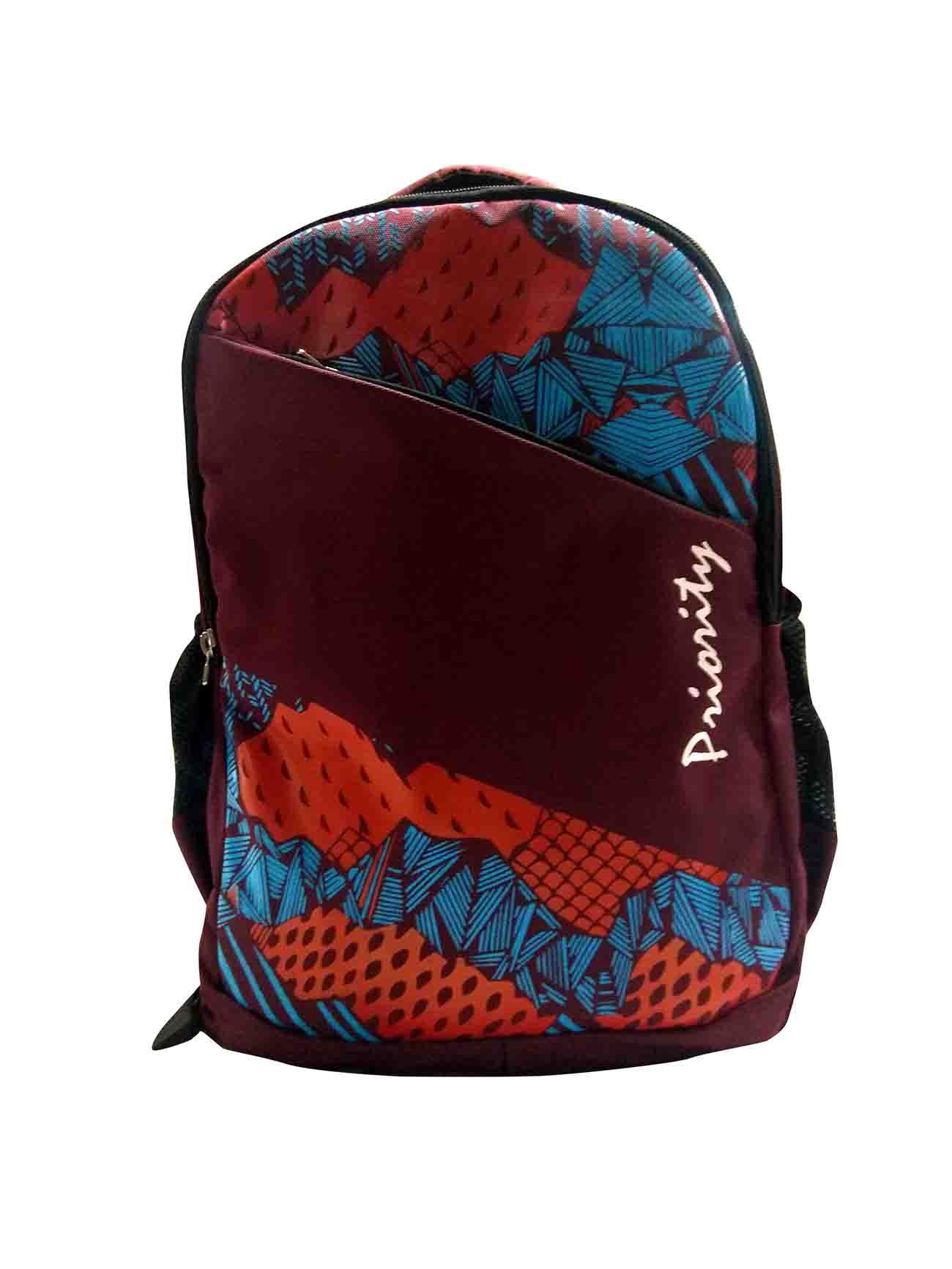 HS HIPPIE 01 -MAROON/BLUE Backpack Bag