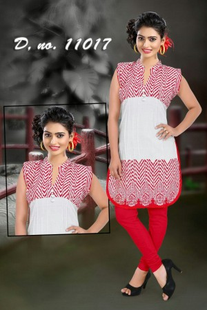 Red Apple Bottom Kurti - 11017