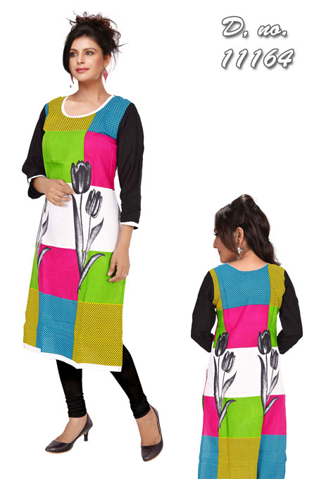 KCA11164 - Multicolour Cotton Kurti