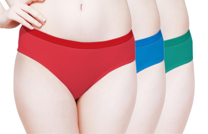 Plain Outer Elastic Panty Pack of 3 -KS001-PACK 2