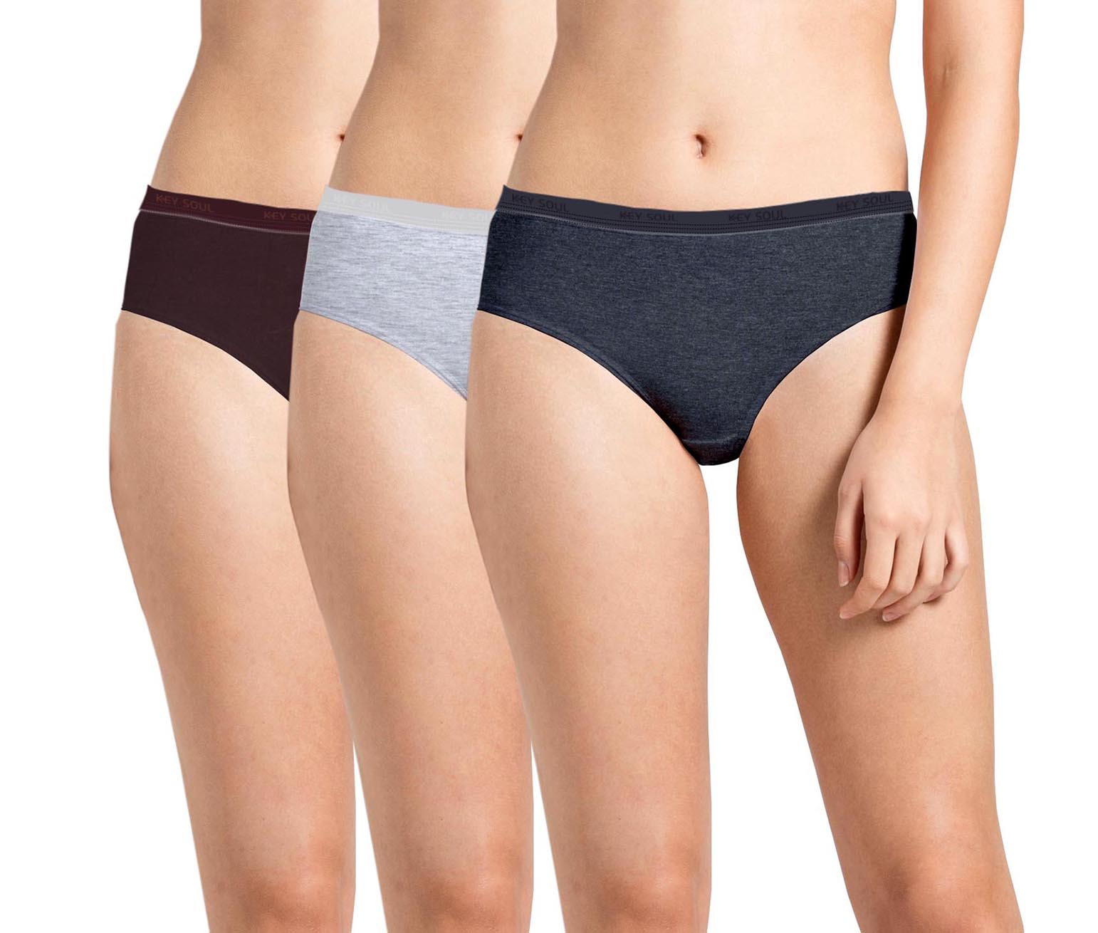 Wmn Panty KS001-P-O3-SOLID PACK 11 3XL SIZE ONLY