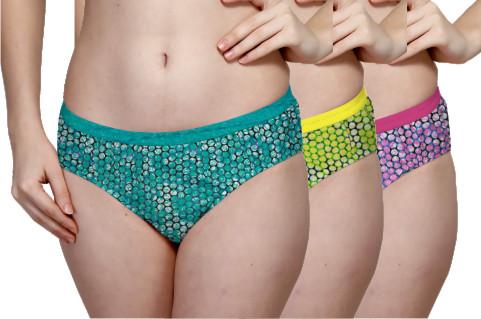 Printed Outer Elastic Panty Pack of 3 -KS002-PACK 2