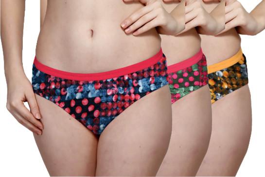 Printed Outer Elastic Panty Pack of 3 -KS002-PACK 4