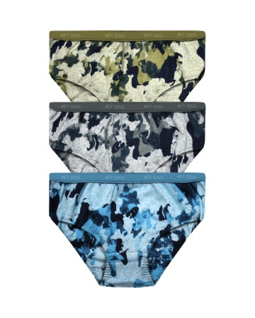 Printed Outer Elastic Panty Pack of 3 -KS002-Pack 13