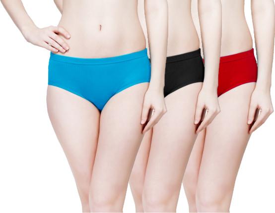Plain Inner Elastic Panty Pack of 3 -KS003-PACK 2