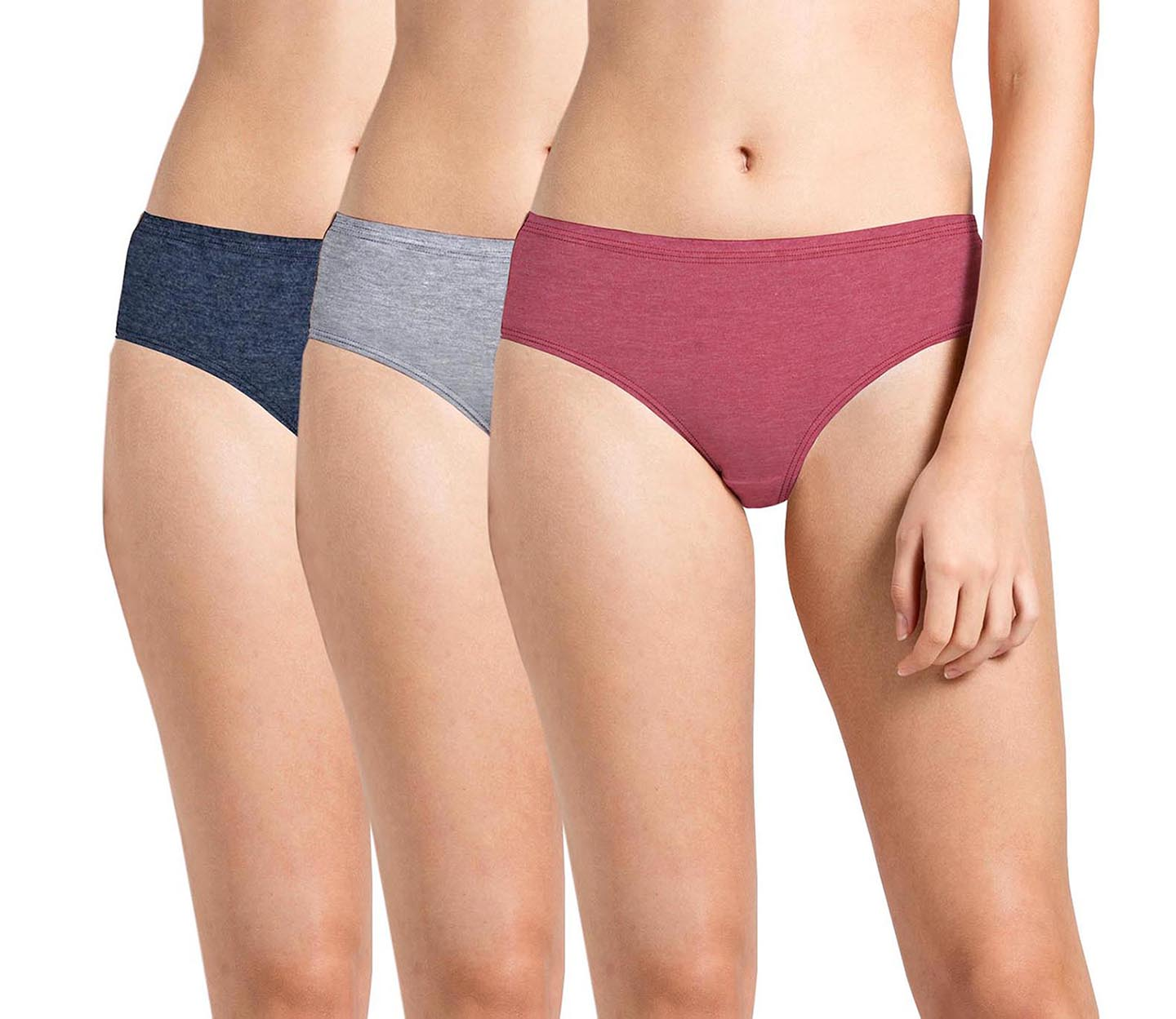 Plain Inner Elastic Panty Pack of 3 -KS003-Pack 21