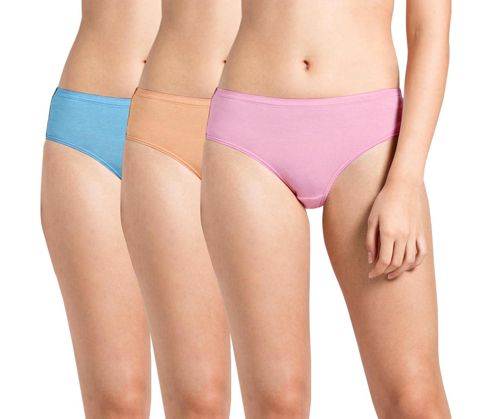 Plain Inner Elastic Panty Pack of 3 -KS003-Pack 22