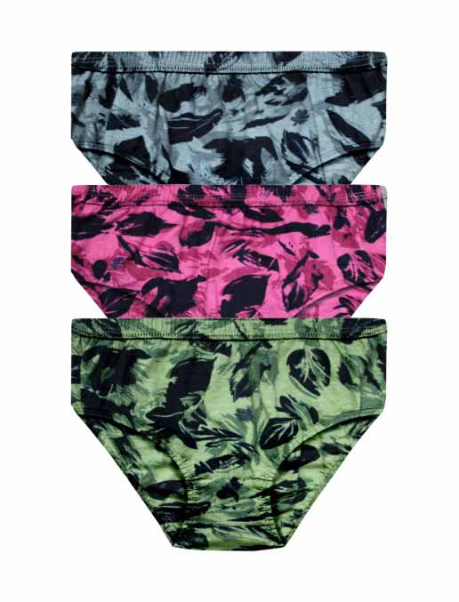 Printed Outer Elastic Panty Pack of 3 -KS004-Pack 15