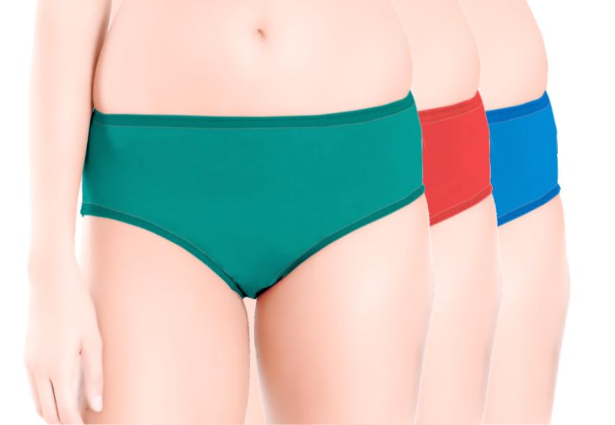 Printed Sandwich Elastic Panty Pack of 3 -KS023-PACK 2
