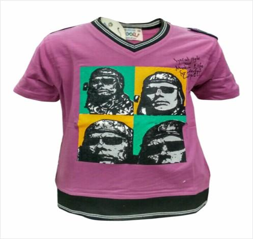 PHOTO - Purple V-neck T-shirts for Kids