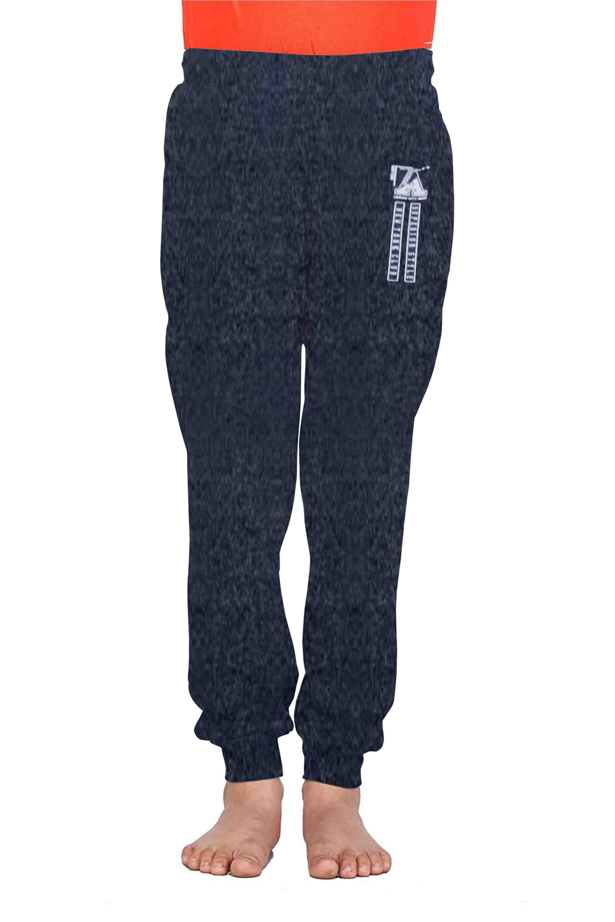 KL SH 2019-NAVY MELANGE-KIDS LOWER