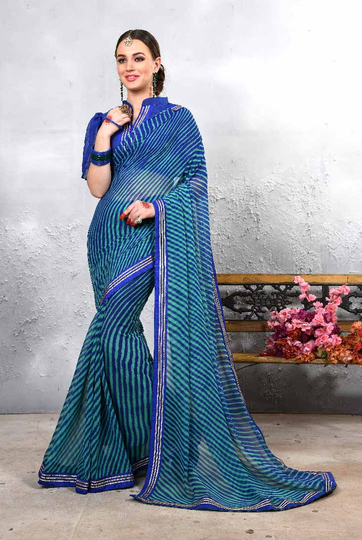 WOMEN SAREE WITH BLOUSE-D NO 101-DF LAJWANTI 01 2019